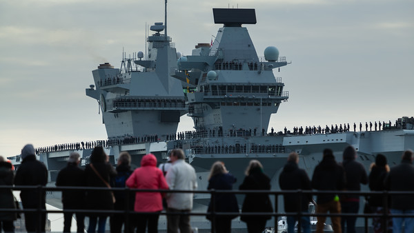 HMS Queen Elizabeth returning from exercise Westlant18, on December the 10th, 2018 (pic7)