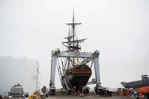 8-26-2015 HMS Surprise Returning to the Museum