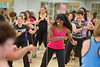 "Billy Blanks Jr. and wife Sharon Catherine Blanks demonstrate ""Dance it Out"" for a group of fans at HNH Fitness in Oradell, NJ.   6/3/13  Photo by Jeff Rhode/Holy Name Medical Center"