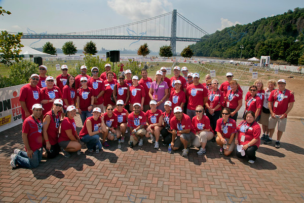 2012 Ironman competition photographed at Ross Pier in Englewood Cliffs, NJ. Holy Name Medical Center was medical sponsor of the event and had over 80 volunteers on hand from the hospital throughout the day.8/11/12  Photo by Jeff Rhode/Holy Name Medical Center