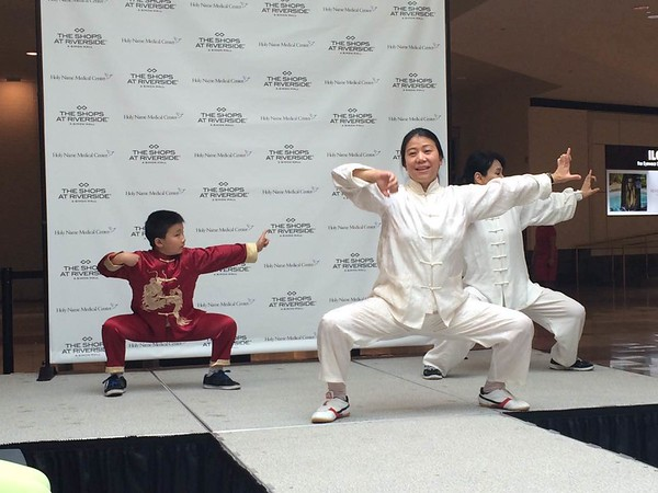 """Holy Name Medical Center held a Women's Health and Wellness event at The Shops at Riverside in Hackensack, NJ on October 24 & 25, 2015. Holy Name Medical Center professionals shared information on breast cancer awareness, as well as provided wellness consultations, a cooking demonstration, a """"Walk of Hope"""" fashion show, and yoga demonstrations."""