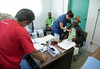 Dr. Judith Kutzleb of Holy Name Medical Center sees a patient at Hopital Sacré Coeur in Milot, Haiti.<br /> Photos from Hopital Sacré Coeur, the CRUDEM foundation, and Holy Name Medical Center's involvement in Milot, Haiti.  Photo by Jeff Rhode / Holy Name Medical Center 10/30/12