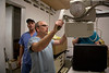 Tom Wall, Pete DeGraff, and Dr. Adam Jarrett of Holy Name Medical Center assess the radiology equipment at Hopital Sacré Coeurin Milot, Haiti.  <br />  Photos from Hopital Sacré Coeur, the CRUDEM foundation, and Holy Name Medical Center's involvement in Milot, Haiti.  Photo by Jeff Rhode / Holy Name Medical Center 3/17/13