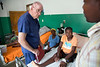 Dr. Dave Butler assesses patients and conditions with a Haitian translator at Hopital Sacré Coeur in Milot, Haiti. <br /> Photos from Hopital Sacré Coeur, the CRUDEM foundation, and Holy Name Medical Center's involvement in Milot, Haiti.  Photo by Jeff Rhode / Holy Name Medical Center 6/13/12