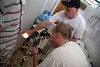 Tom Wall and Dr. Adam Jarrett of Holy Name Medical Center assess the radiology equipment at Hopital Sacré Coeurin Milot, Haiti.  <br />  Photos from Hopital Sacré Coeur, the CRUDEM foundation, and Holy Name Medical Center's involvement in Milot, Haiti.  Photo by Jeff Rhode / Holy Name Medical Center 3/16/13