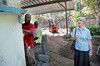 Sister Maureen looks at the progress of construction on her new library and classroom on the Crudem compound in Milot, Haiti. <br /> Photos from Hopital Sacré Coeur, the CRUDEM foundation, and Holy Name Medical Center's involvement in Milot, Haiti.  Photo by Jeff Rhode / Holy Name Medical Center 10/22/13