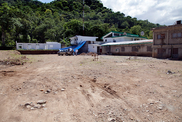 New construction site  for a Hopital Sacre Coeur building. Photos from Hopital Sacré Coeur, the CRUDEM foundation, and Holy Name Medical Center's involvement in Milot, Haiti.  Photo by Jeff Rhode / Holy Name Medical Center 10/21/13