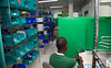 Employees at Holy Name Medical Center in Teaneck, NJ building a new pharmacy department in Hospital Sacre Coeur in Miliot, Haiti. 5/23/2016 Photo by Jeff Rhode / Holy Name Medical Center