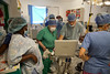 American volunteers work inside the operating room at Hopital Sacré Coeur in Milot, Haiti.<br /> <br /> Photos from Hopital Sacré Coeur, the CRUDEM foundation, and Holy Name Medical Center's involvement in Milot, Haiti.  Photo by Jeff Rhode / Holy Name Medical Center 9/5/12