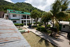 The courtyard at Hopital Sacre Coeur in Milot, Haiti. <br /> Photos from Hopital Sacré Coeur, the CRUDEM foundation, and Holy Name Medical Center's involvement in Milot, Haiti.  Photo by Jeff Rhode / Holy Name Medical Center 10/29/12