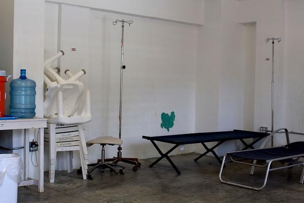 A Cholera treatment room at  Hopital Sacré Coeur, in Milot, Haiti. Photos from Hopital Sacré Coeur, the CRUDEM foundation, and Holy Name Medical Center's involvement in Milot, Haiti.  Photo by Jeff Rhode / Holy Name Medical Center 6/12/12