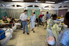 Stewart Simonson and Sr. Annne Crawley walk through a recovery area in Hopital Sacre Coeur in Milot, Haiti.<br /> Photos from Hopital Sacré Coeur, the CRUDEM foundation, and Holy Name Medical Center's involvement in Milot, Haiti.  Photo by Jeff Rhode / Holy Name Medical Center 3/13/13
