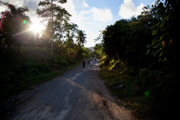 A local road in Milot, Haiti. <br /> Photos from Hopital Sacré Coeur, the CRUDEM foundation, and Holy Name Medical Center's involvement in Milot, Haiti.  Photo by Jeff Rhode / Holy Name Medical Center 10/21/13