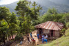 Home on a mountain in Milot, Haiti. <br /> Photos from Hopital Sacré Coeur, the CRUDEM foundation, and Holy Name Medical Center's involvement in Milot, Haiti.  Photo by Jeff Rhode / Holy Name Medical Center 10/24/13