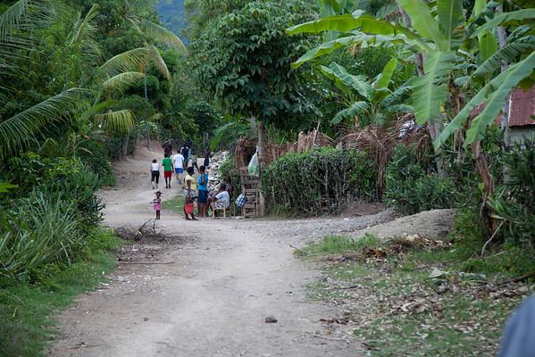 A village in Milot, Haiti. <br /> Photos from Hopital Sacré Coeur, the CRUDEM foundation, and Holy Name Medical Center's involvement in Milot, Haiti.  Photo by Jeff Rhode / Holy Name Medical Center 10/21/13