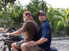 Steve Mosser gets a ride from Tim Traynor in Milot, Haiti. <br /> Photos from Hopital Sacré Coeur, the CRUDEM foundation, and Holy Name Medical Center's involvement in Milot, Haiti.  Photo by Jeff Rhode / Holy Name Medical Center 9/4/12