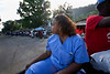 Judith Raymond on the street in Milot, Haiti. <br /> Photos from Hopital Sacré Coeur, the CRUDEM foundation, and Holy Name Medical Center's involvement in Milot, Haiti.  Photo by Jeff Rhode / Holy Name Medical Center 10/24/13
