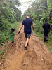 Jeff Rhode from Holy Name Medical Center walks on a jungle road in Milot, Haiti. <br /> Photos from Hopital Sacré Coeur, the CRUDEM foundation, and Holy Name Medical Center's involvement in Milot, Haiti.  10/29/12