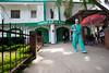 Dr. Mike Conn leaves the hospital following a surgery at Hopital Sacre Coeur in Milot, Haiti.<br /> Photos from Hopital Sacré Coeur, the CRUDEM foundation, and Holy Name Medical Center's involvement in Milot, Haiti.  Photo by Jeff Rhode / Holy Name Medical Center 10/23/13