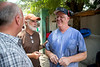 (LtoR) Mike Maron, Tim Traynor, and Mark Keane at the Crudem foundation generator site in Milot, Haiti. A team of Holy Name Medical Center employees traveled to  Milot, Haiti to run new electric and communications cable, and get a pair of generators installed and operational. The team employed and taught a crew of local Haitian workers on the projects.<br /> Photos from Hopital Sacré Coeur, the CRUDEM foundation, and Holy Name Medical Center's involvement in Milot, Haiti.  Photo by Jeff Rhode / Holy Name Medical Center 9/4/12