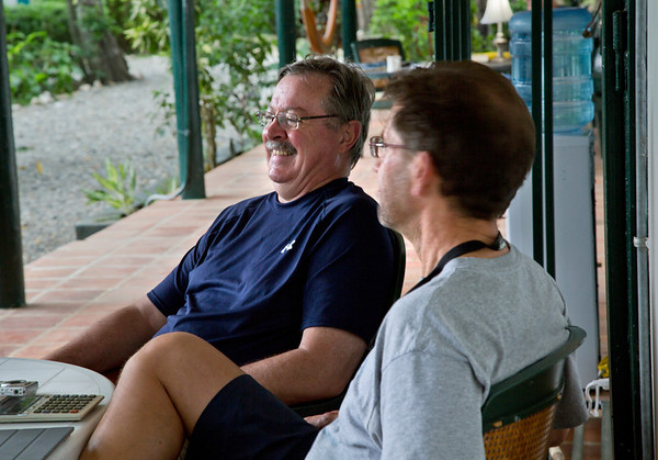 John Grangeia and Joe Lemaire a the Crudem campus.<br /> Photos from Hopital Sacré Coeur, the CRUDEM foundation, and Holy Name Medical Center's involvement in Milot, Haiti.  Photo by Jeff Rhode / Holy Name Medical Center 10/31/12