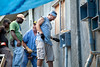 Marty Wagner from Holy Name Medical Center works installing electrical conduit at Hopital Sacre Coeur in Milot, Haiti. <br /> Photos from Hopital Sacré Coeur, the CRUDEM foundation, and Holy Name Medical Center's involvement in Milot, Haiti.  Photo by Jeff Rhode / Holy Name Medical Center 10/21/13