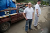 Dr. Adam Jarrett and Tom Wall of Holy Name Medical Center on the street in Milot, Haiti. <br /> Photos from Hopital Sacré Coeur, the CRUDEM foundation, and Holy Name Medical Center's involvement in Milot, Haiti.  Photo by Jeff Rhode / Holy Name Medical Center 3/16/13