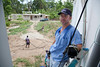 Jimmy Candela works at Hopital Sacre Coeur. A team of Holy Name Medical Center employees traveled to  Milot, Haiti to run new electric and communications cable, and get a pair of generators installed and operational. The team employed and taught a crew of local Haitian workers on the projects.<br /> Photos from Hopital Sacré Coeur, the CRUDEM foundation, and Holy Name Medical Center's involvement in Milot, Haiti.  Photo by Jeff Rhode / Holy Name Medical Center 9/7/12