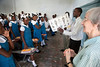Sr. Maureen Boggins visits school children in Milot, Haiti. Sr. Maureen teaches english at different school in Milot. Photos from Hopital Sacré Coeur, the CRUDEM foundation, and Holy Name Medical Center's involvement in Milot, Haiti.  Photo by Jeff Rhode / Holy Name Medical Center 10/22/13