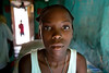A girl in her home in Milot, Haiti. <br /> Photos from Hopital Sacré Coeur, the CRUDEM foundation, and Holy Name Medical Center's involvement in Milot, Haiti.  Photo by Jeff Rhode / Holy Name Medical Center 6/14/12