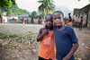 Children on the street in Milot, Haiti. <br /> Photos from Hopital Sacré Coeur, the CRUDEM foundation, and Holy Name Medical Center's involvement in Milot, Haiti.  Photo by Jeff Rhode / Holy Name Medical Center 6/13/12