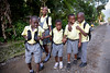 Children walking to school in Milot, Haiti.Photos from Hopital Sacré Coeur, the CRUDEM foundation, and Holy Name Medical Center's involvement in Milot, Haiti.  Photo by Jeff Rhode / Holy Name Medical Center 10/24/13