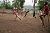 Children play soccer in Milot, Haiti. <br /> Photos from Hopital Sacré Coeur, the CRUDEM foundation, and Holy Name Medical Center's involvement in Milot, Haiti.  Photo by Jeff Rhode / Holy Name Medical Center 10/31/12