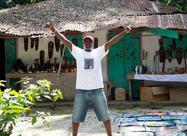 A local vendor on the street in Milot, Haiti.<br /> Photos from Hopital Sacré Coeur, the CRUDEM foundation, and Holy Name Medical Center's involvement in Milot, Haiti.  Photo by Jeff Rhode / Holy Name Medical Center 10/22/13