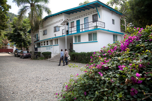 The Crudem campus in Milot, Haiti. This area is where volunteers and employees live while working at Hopital Sacre Coeur, which is a walk down the road. <br /> Photos from Hopital Sacré Coeur, the CRUDEM foundation, and Holy Name Medical Center's involvement in Milot, Haiti.  Photo by Jeff Rhode / Holy Name Medical Center 3/13/13