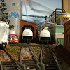 Looking down the three yard tracks that service Omya City Yard