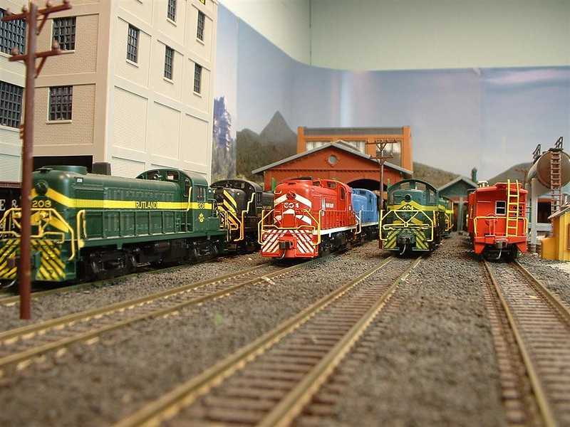 Afternoon Lineup At The Enginehouse: In the center is the newly acquired Alco 604