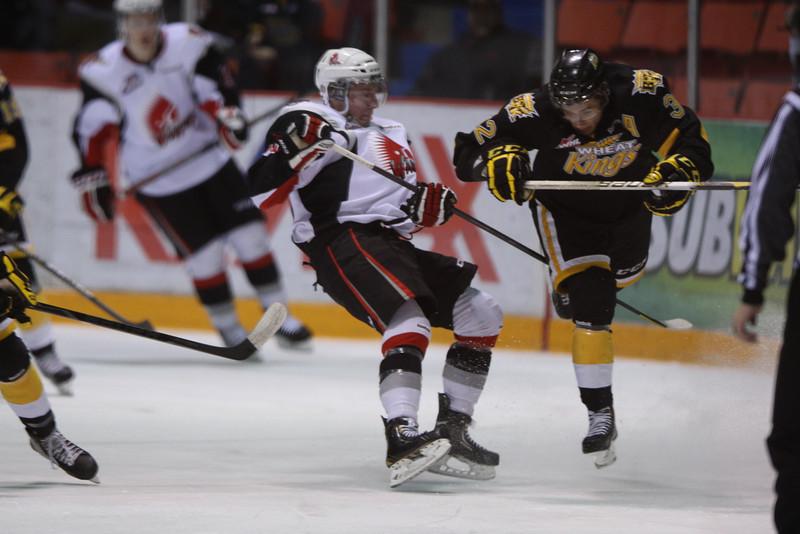 Brandon Wheat Kings versus Moose Jaw Warriors - 2012