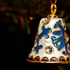 enameled and jewelled bell on Christmas tree