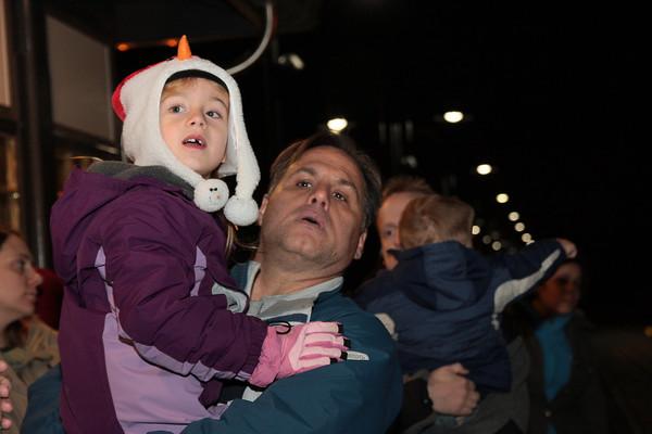 Santa arrives on SEPTA train