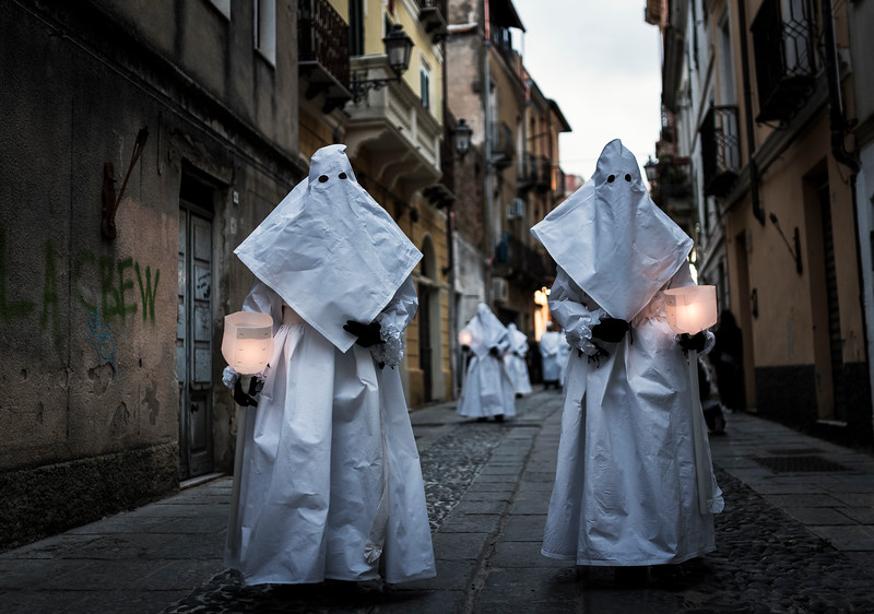 Holy Week in Sardinia. Procession of The Mysteries of Iglesias