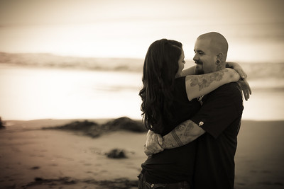 Engagement Photos at the Santa Cruz Beach