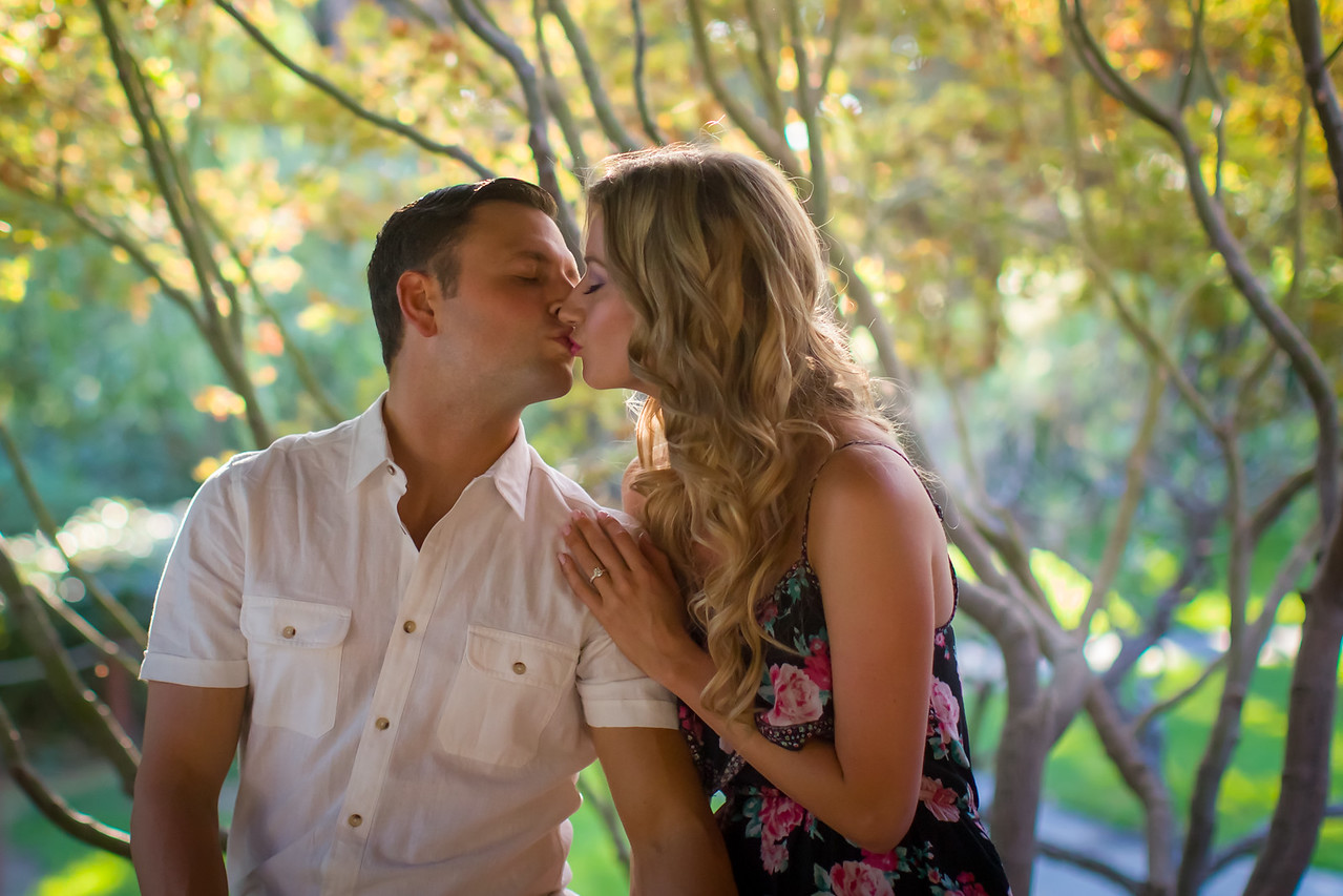 Engagement Photos at the Japanese Garden