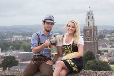 DKANE 01092016 REPRO FREE Gillian Forde, Rochestown and Herolind Sylejmani, Cork  getting ready for Oktoberfest Beag a wonderful celebration of the best of everything Bavarian! Oktoberfest Beag will take place in The Plaza, Waterford City 22-25 September, The Docklands Cork City 6-15 October and King John's Castle Limerick 27-31 October. See www.oktoberfestbeag.ie Pic Darragh Kane