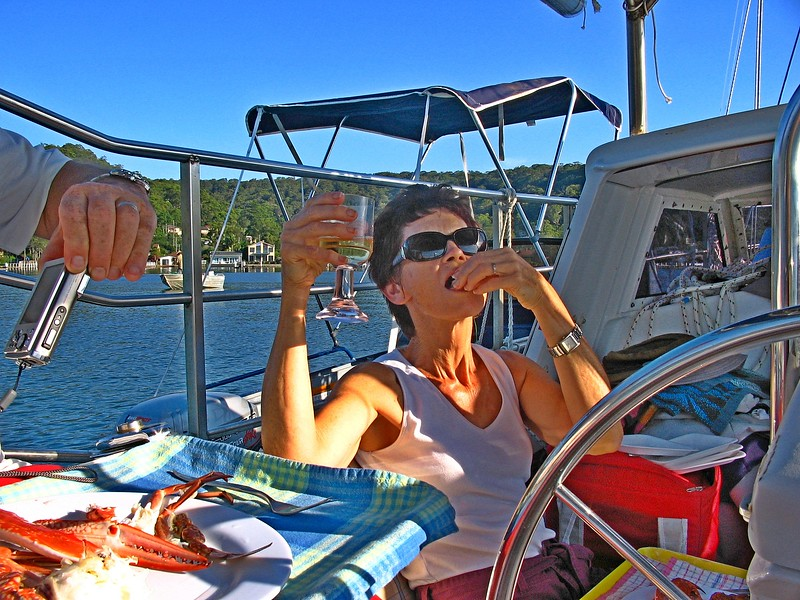 Crab Lunch On board.