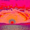 Moonrise 3.  Rose, Red and Salmon.   Emboss Art photo digital download and wallpaper screensaver. DIY Designer Print.
