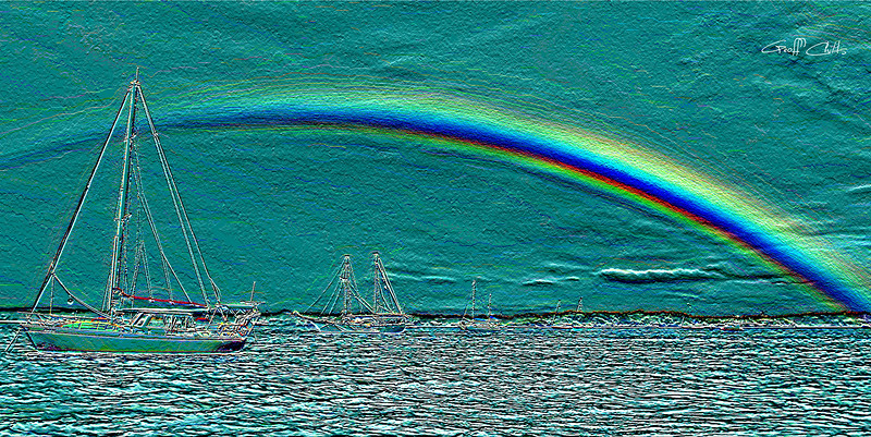 Rainbow Heaven 4.Green.  Emboss Art photo digital download and wallpaper screensaver. DIY Designer Print.