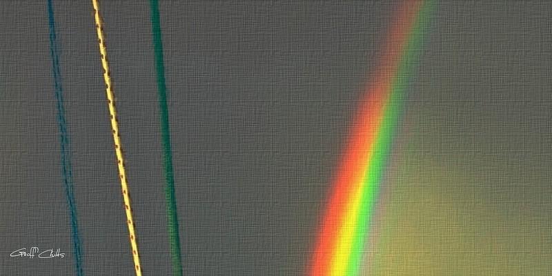 Rope and Rainbow. Art photo digital download and wallpaper screensaver. DIY Print.