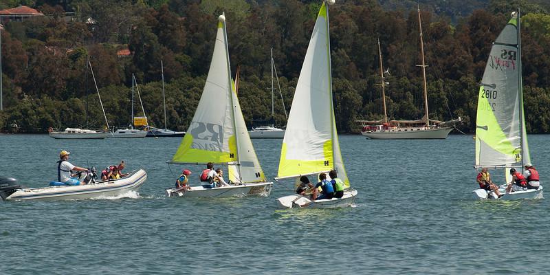 Gosford, Australia - September 27, 2012: Children sailing. Editorial.