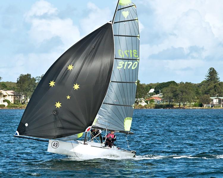 LAKE MACQUARIE, AUSTRALIA. APRIL 17th  2013. Combined High School Sailing Championships.